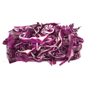 Grated red cabbage salad